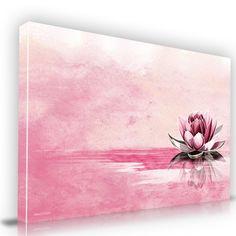 Pink Lotus Flower Canvas Artwork Canvas Print Artwork from Maxwell Dickson Creative Design Wall Art for Sale Diy Artwork, Canvas Artwork, Artwork Prints, Flower Canvas, Flower Art, Lotus Flower, Art Flowers, Watercolor Flowers, Watercolor Art