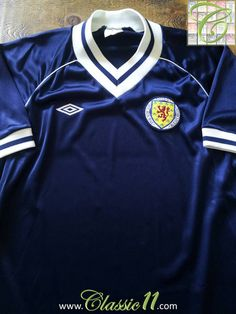 1982 83 Old Vintage Scotland Home Football Shirt  f00141e38