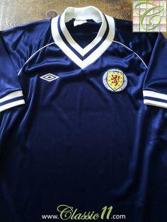 3227591ad2f 1982/83 Old Vintage Scotland Home Football Shirt | Classic Football Shirts