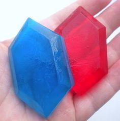 Zelda Rupee Soap Makes me want to start making soap again.