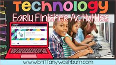 Technology teacher resources for using technology in the elementary classroom. Ideas from classroom decor, lesson plans, bulletin boards, gadgets, and more for the computer lab. Computer Center, The Computer, Elementary Computer Lab, Computer Lab Lessons, Technology Lessons, Teaching Technology, Technology Tools, Technology Integration, Educational Technology