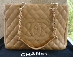 Bolsa Chanel - Shopper Bege  - www.modagrife.com