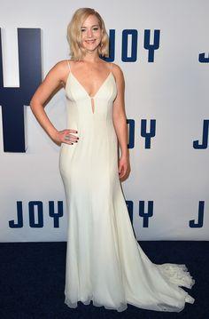 Jennifer Lawrence in Christian Dior attends 'Joy' New York Premiere on December 13, 2015
