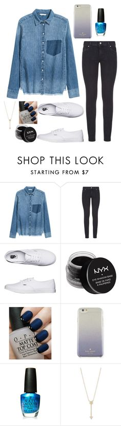 """Bla"" by aysiaismej ❤ liked on Polyvore featuring Paige Denim, Vans, NYX, OPI, Kate Spade and EF Collection"