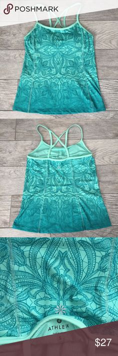 Athleta Small Green Strappy Sports Tank In good condition. No flaws. Has padded bra support. Athleta Tops Tank Tops