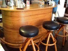 bamboo bar - Google Search Rattan, Wicker, Bamboo Bar, Vintage Tiki, Tiki Party, Sisal, Natural Materials, Bar Stools, Tortoise Shell