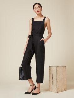 Linen - so you can breathe on those warmer days ahead. This is a relaxed fitting jumpsuit with a straight neckline and belted waist. https://www.thereformation.com/products/lunna-jumpsuit-eos?utm_source=pinterest&utm_medium=organic&utm_campaign=PinterestOwnedPins