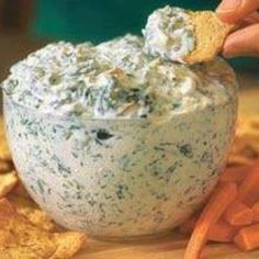 Secretly Healthy Spinach Dip use 1% fat cottage cheese in stead of sour cream. Maybe add a little plain Greek yogurt for that special tang.
