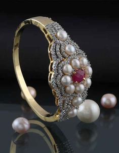 Browse unique range in American diamond bracelet online for women at best price by Anuradha Art Jewellery. Get beautiful collection in designer bracelet, bangle bracelet & tennis bracelets. Diamond Bracelets, Diamond Jewelry, Bangle Bracelets, Bangles, Gold Earrings Designs, Bracelet Designs, Jewelry Art, Fashion Jewelry, Jewelry Design