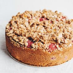 Raspberry-Currant Yogurt Crumb Cake // Find this #recipe and more on our Raspberry Desserts Feed at https://feedfeed.info/raspberry-desserts?img=812486  #feedfeed