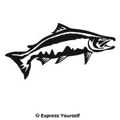 Cool fishing sticker vinyl funny decal fly trout fish kayak steelhead 1 boat car