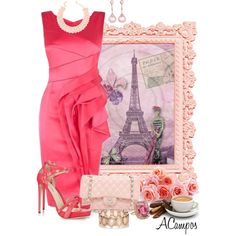 """""""Pink In Paris"""" by anna-campos on Polyvore"""