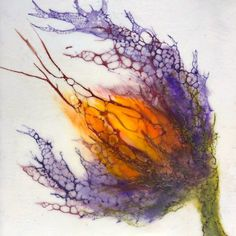 Abstract Flower Art, Abstract Watercolor Art, Wax Art, Tinta China, Alcohol Ink Painting, Art Prints, Lino Prints, Block Prints, Encaustic Painting