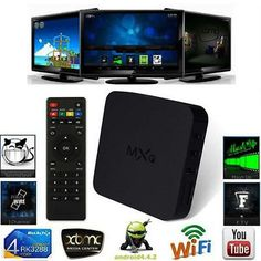 1 x MXQ Android tv box. ◆Wireless Built in WiFi. ◆OS Android ◆LAN standard ◆Mouse/ Keyboard Support mouse and keyboard via USB;Support wireless mouse and keyboard via USB dongle. Kodi Android, Android Box, Free Android, Quad, Xbmc Kodi, Wifi, Smart Set, Home Internet, Camera Hacks
