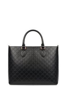 f64cca3da3f GUCCI Black Guccissima Leather Tote.