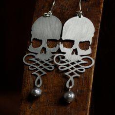 Skull Filigree Earrings