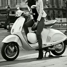 Amira with her lovely scooter