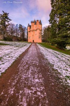 Craigievar  Castle lane, Scotland