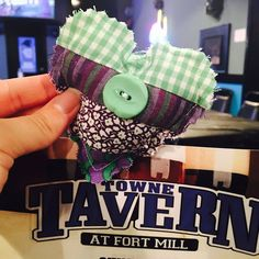 I found a quilted heart in Towne Tavern at Fort Mill after working a long day! It put a much needed smile on my face! Thank you for the random act of kindness and I will definitely pay it forward! #ifaqh #ifoundaquiltedheart