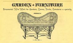 Fancy Wire Settee Ad