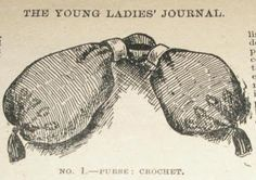 Crochet Miser's Purse. Article from The Young Ladies Journal, January 1901.