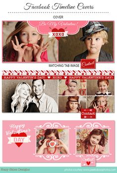 Valentine's Day Facebook Timeline Cover Templates for Photographers