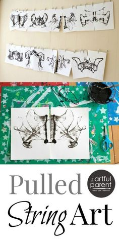 Pulled String Art is Mesmerizing and Addictive - amazed with this process art… Club D'art, Art Club, Kindergarten Art, Preschool Art, Classe D'art, Theme Halloween, Middle School Art, High School, Art Lessons Elementary