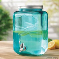 Welcome to AVON - the official site of AVON Products, Inc - Expressions - Category Glass Beverage Dispenser, Avon Products, Beverages, Drinks, Mason Jars, Water Bottle, Drink, Water Bottles, Mason Jar