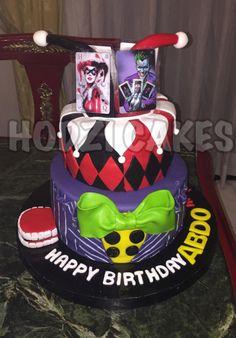 Joker Themed Cake🎭❤️🖤❤️💜 - Cake by Hend Taha-HODZI CAKES