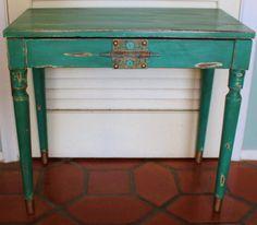 Vintage Green Piano Bench http://pinterest.com/cameronpiano