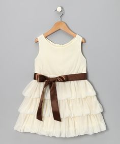 Take a look at the Ivory Ruffle Dress - Toddler & Girls on #zulily today! Flower girl dress??