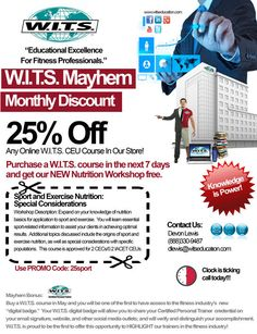 Personal Trainer Monthly Promo - May Discounts