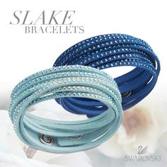 Wear the stackable trend with our stunning Slake bracelets. Would you wear these two blues together or separate?