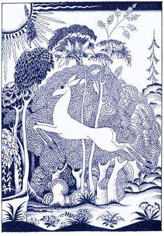 The Enchanted Hind - Kay Nielsen - Red Magic Children's Book Illustration, Illustrations, Kay Nielsen, Magic Art, Art Inspo, Flower Art, Line Art, Fantasy Art, Graphic Art