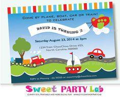 Transportation Invitation  Printable Transportation by PartyLab, $10.00