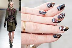 Inspired by Prabal Gurung Fall 2013 #beauty #nails