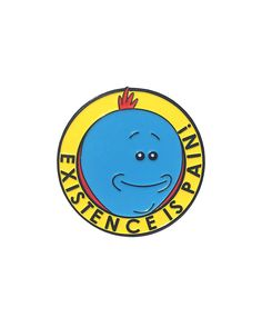 Mr. Meeseeks pin from @dysalexic Existence is pain! Buy it through their link in bio!