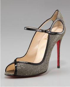 Christian Louboutin Glittered Keyhole Mary Jane    Love the color, not so much the mary jane strap though...