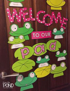 Frog Door Decor + Bulletin Board