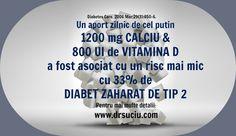 Rolul calciului si al vitaminei D in Diabetul de tip 2 Diabetes, Personalized Items