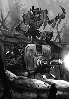 Necron Flayed One Warhammer Imperial Guard, 40k Imperial Guard, War In Space, Warhammer 40k Necrons, Game Workshop, Cyberpunk Art, The Grim, Starcraft, Geek Art
