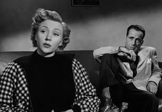 Humphrey Bogart & Gloria Grahame star in the film-noir classic movie In a Lonely Place.read more, Humphrey Bogart, Classic Film Noir, Classic Films, Martha Stewart, Tollund Man, Nicholas Ray, Gloria Grahame, Jane Powell, Big Songs