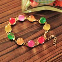 Multi Color Sweet Weaving Loom Crystal Beads Ball Bracelet&Bangle For Women Jewelry