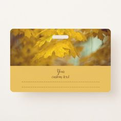 Yellow autumn maple leaves. Add text. Badge #badge #zazzle, sale, discount, shopping, buy, deals, gifts, #giftideas, artwork, bright, #photography, blur, bokeh, #leaves, golden, #autumn, #maple, pretty, beautiful, soft, #yellow, #nature, text, season, #fall, #bokeh