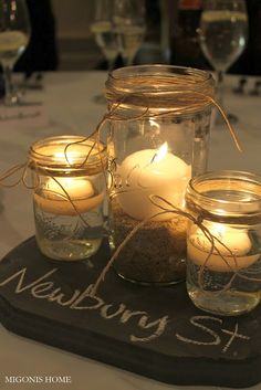 Winter Wedding Planning Tips аnd Ideas Chalkboard Centerpieces, Country Wedding Centerpieces, Unique Centerpieces, Wedding Decorations, Centerpiece Ideas, Western Centerpieces, Reunion Centerpieces, Centrepieces, Market Day Ideas
