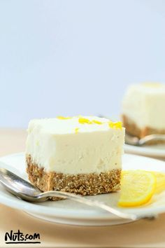 No Bake Lemon Cheesecake Recipe {Gluten-Free, Vegan} - The Nutty Scoop from Nuts.com