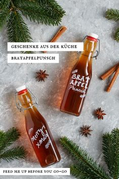 Baked apple punch - a quick gift from the kitchen - Are you looking for a homemade gift from the kitchen? The baked apple punch with orange, ginger, ci - Christmas Food Gifts, Simple Christmas, Christmas Presents, Jamie Oliver, Punch, Winter Drinks, Cupcakes, Making 10, Baked Apples