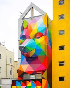 Spirit animal Mural by @okudart by thefoxisblack