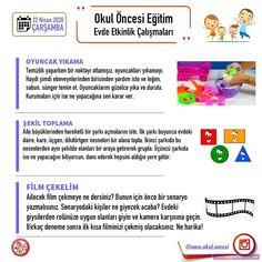 Evde Eğitim 5.Hafta Etkinlikleri Preschool, How To Plan, Instagram, Preschools, Kid Garden, Early Elementary Resources, Kindergarten, Kindergartens, Kindergarten Center Management