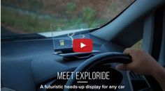 Exploride - In non-jargon terms, Exploride is a transparent glass device, which can sit on the dashboard of a car, and allow the driver do perform an array of tasks, without looking away from the road. Exploride, which was incubated at Startup Village in Kerala, India has become India's biggest crowd funding success story. They have successfully raised Rs 3.4 crore or $526,301 from tech enthusiasts at Indiegogo. | via trak.in